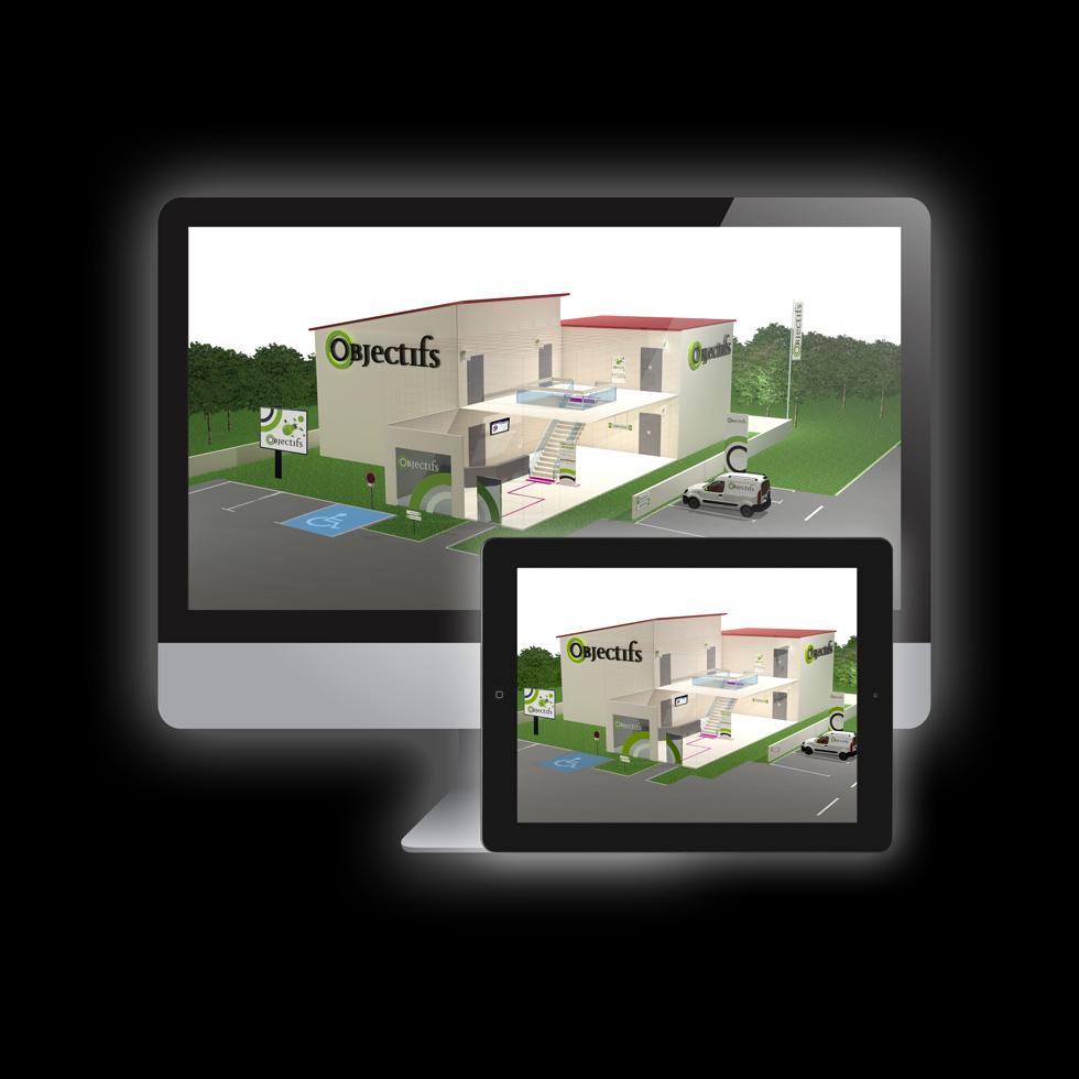 Animation 3d toulouse image communication image et for 3d modelisation